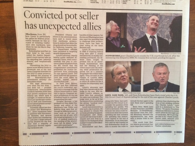 Los Angeles Times Headline Article about Charles C. Lynch